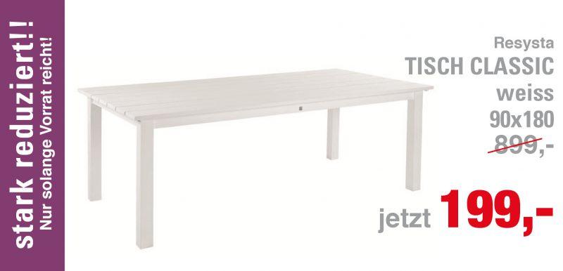 Tisch Classic, weiss, 90 x 180
