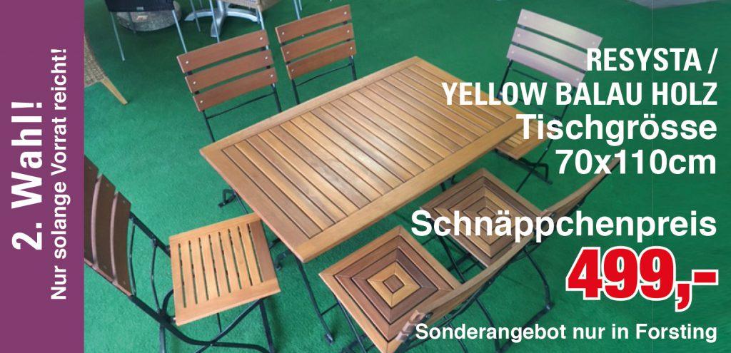 Schnäppchen Yellow Balau & Resysta