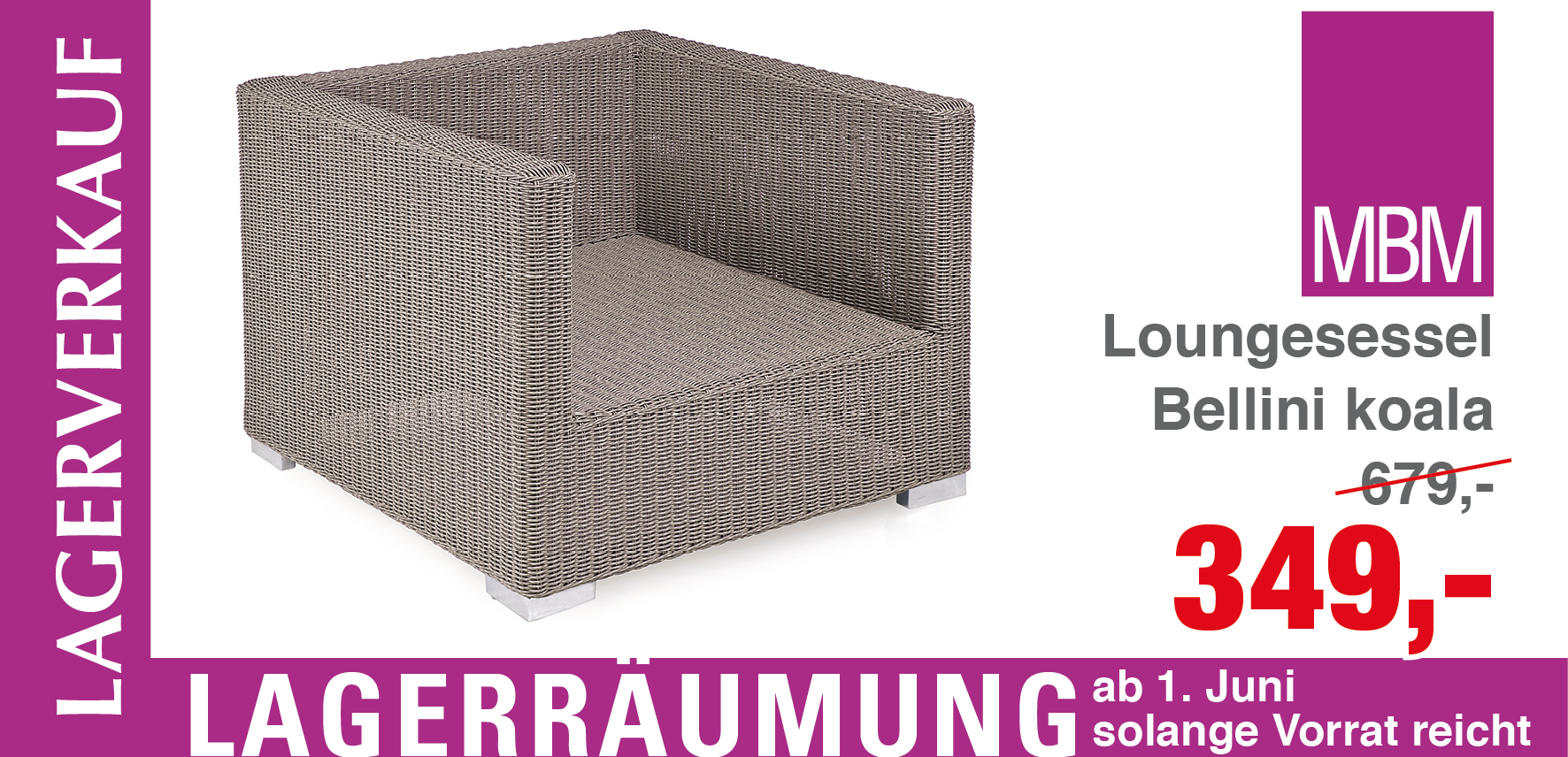 loungesessel bellini koala mbm gartenm bel lagerverkauf. Black Bedroom Furniture Sets. Home Design Ideas