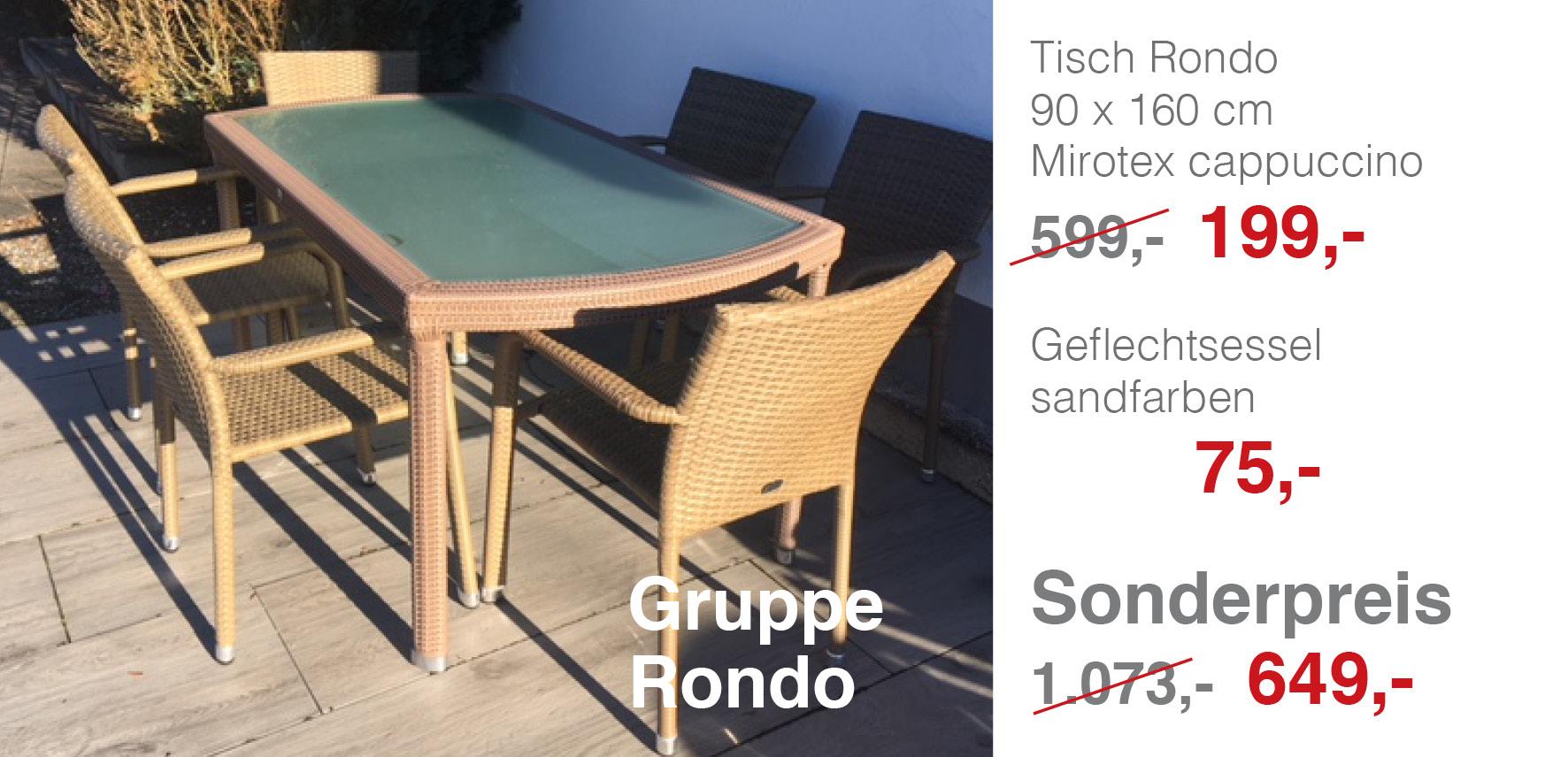 gruppe rondo mbm gartenm bel lagerverkauf. Black Bedroom Furniture Sets. Home Design Ideas