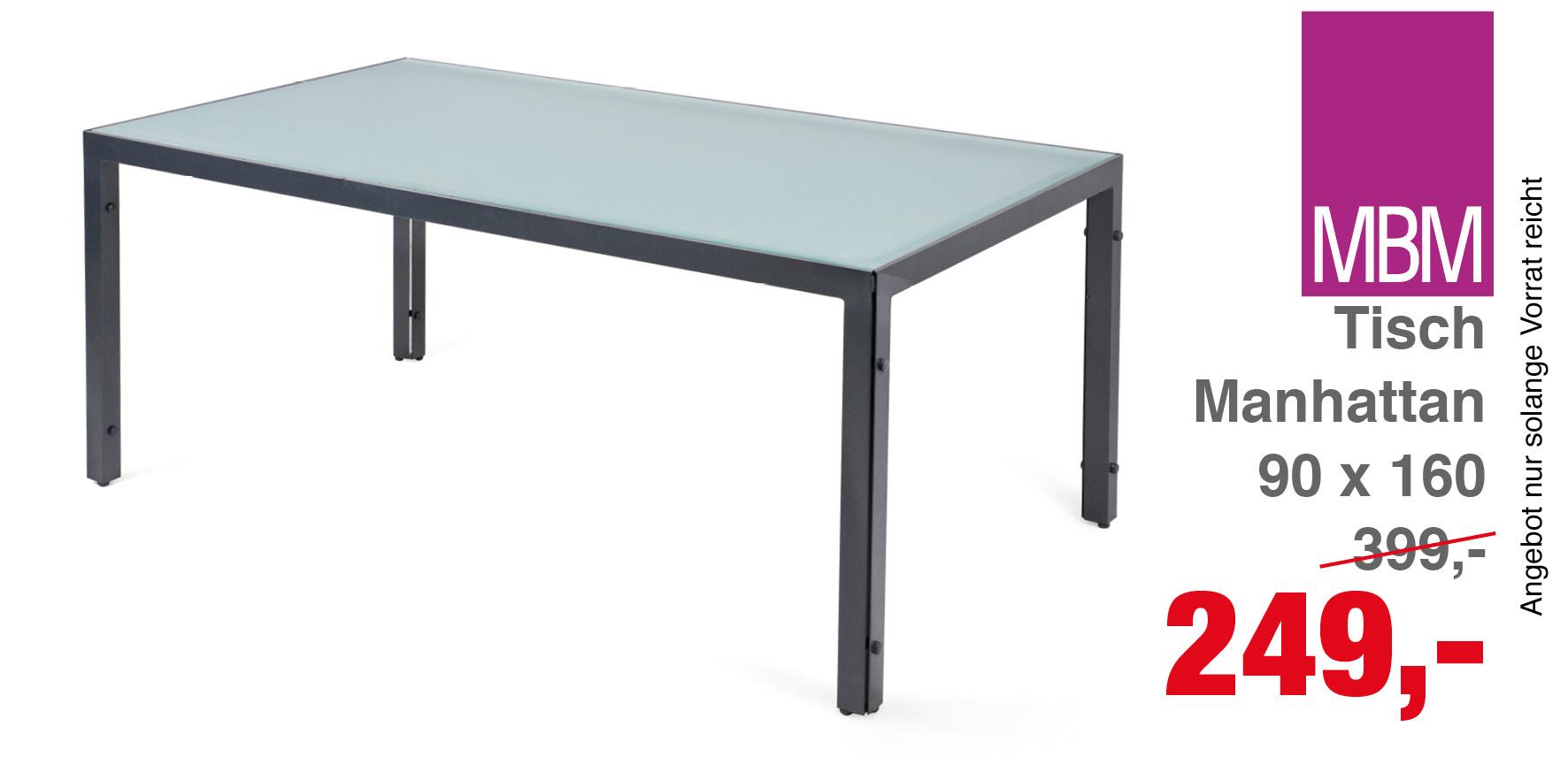 Tisch Manhattan 90 X 160 Cm Mbm Gartenmobel Lagerverkauf
