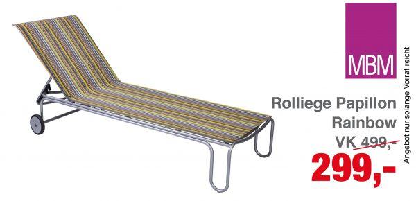 Roll-Liege Papillon, Rainbow