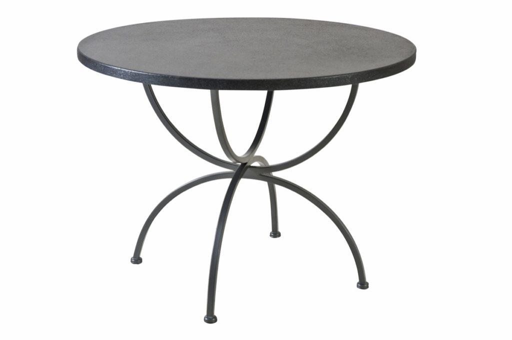 Tisch Schmiedeeisen graphite rund 100 cm
